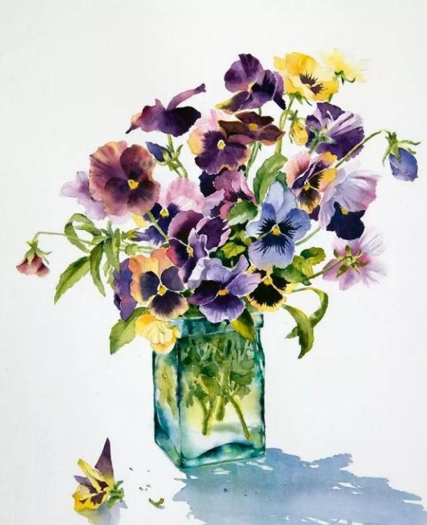 成都画室老师告诉你6个提升色彩花卉绘画的小技巧!