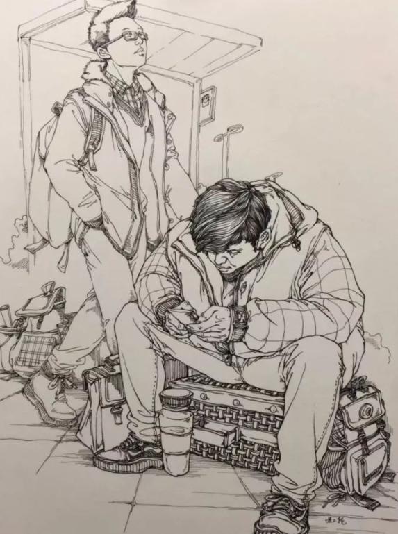 成都画室丨人物速写必须掌握的步骤!